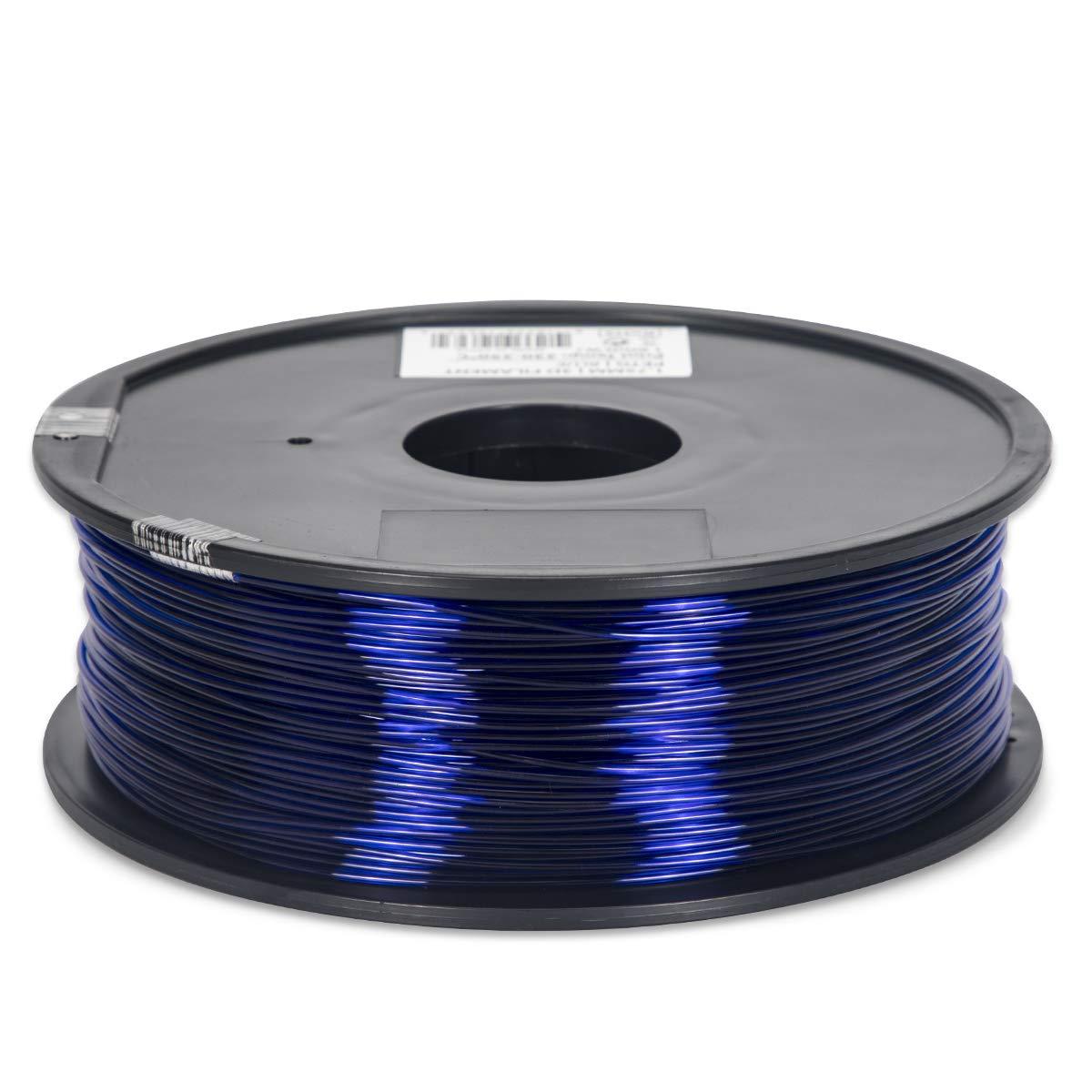PETG Filament - 1.75 -  Blue Translucent - Inland