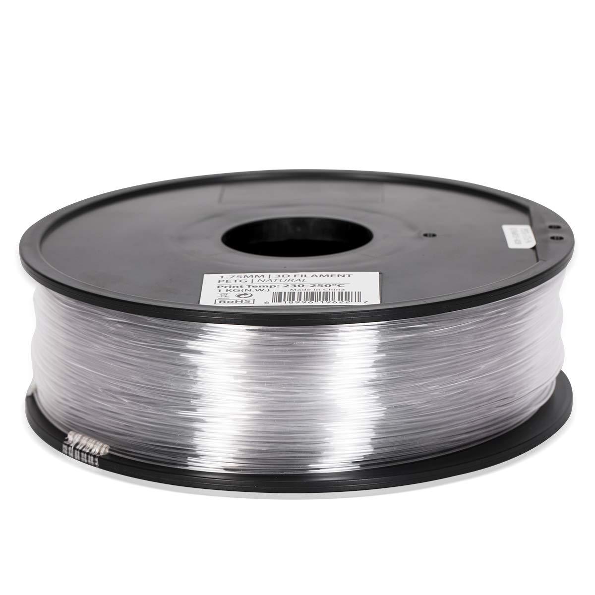 PETG Filament- 1.75 - Clear Translucent - Inland