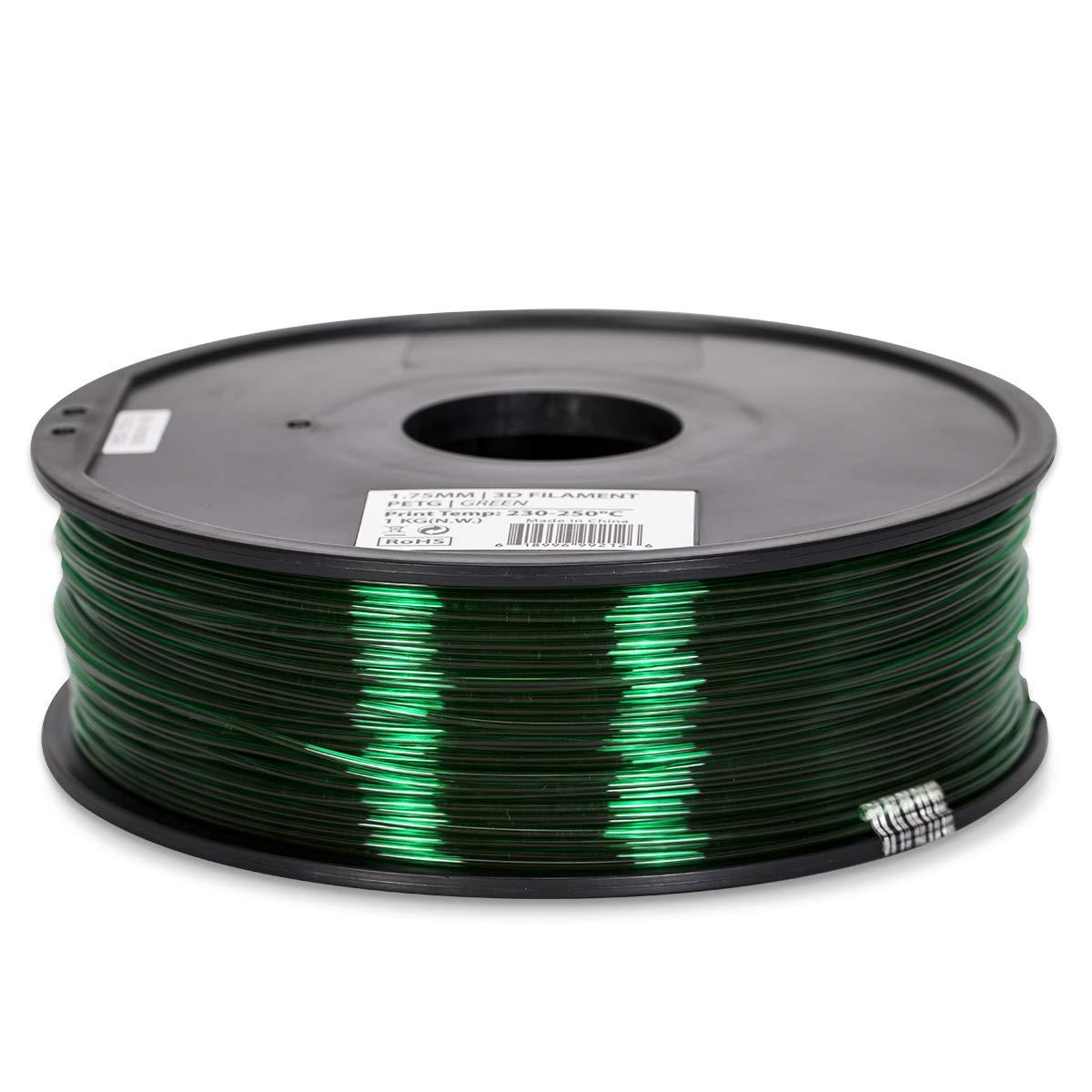 PETG Filament - 1.75 - Green Translucent - Inland
