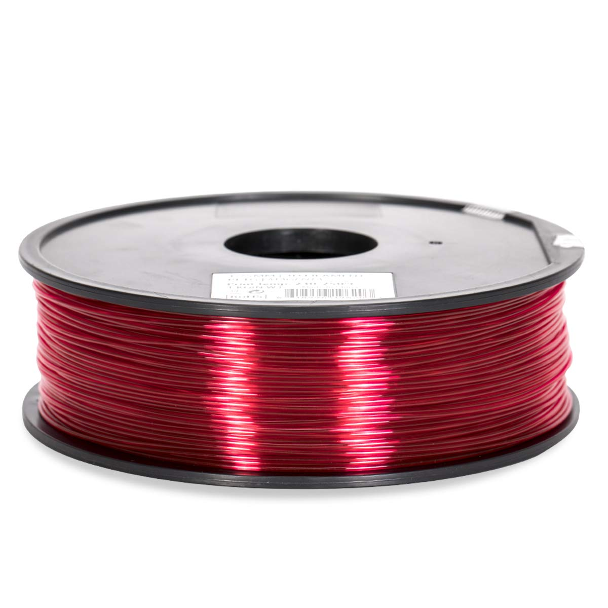 PETG Filament - 1.75 - Red Translucent - Inland